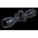 Оптический прицел LEAPERS BugBuster 4X32 AO Compact, 25,4 мм, с подсветкой кр./зел., Mil-Dot с кольцами