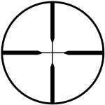 PROSTAFF 4-12X40 MATTE, 25,4ММ., СЕТКА NP (DUPLEX), ПАРАЛАКС 100М.